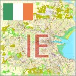 Ireland Cities Maps Editable Vector Street Maps and City Plans for Design