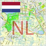 Netherlands City Plans Vector Street Maps in the Adobe Illustrator