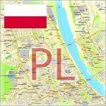 Poland City Plans Vector Street Maps in the Adobe Illustrator PDF