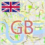 UK Great Britain City Plans Vector Street Maps and Full Detailed UK Country Maps in Adobe Illustrator, PDF and other vector formats