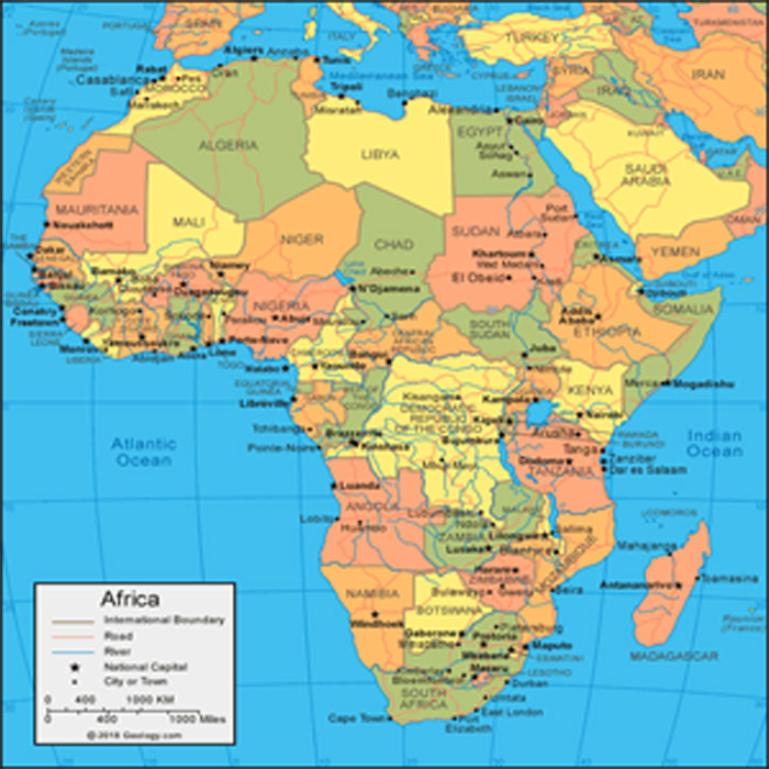 Africa editable maps Cities, Countries, Adobe Illustrator, PDF, CDR