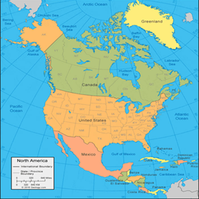 North America Vector Maps Cities, Countries Adobe Illustrator PDF CDR