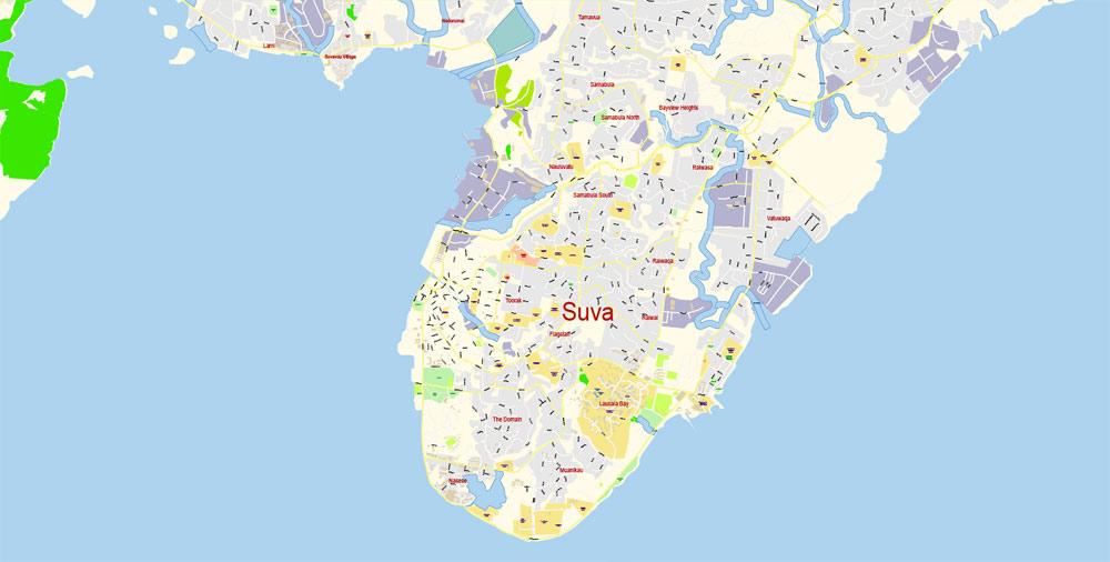 Street map Fiji PDF