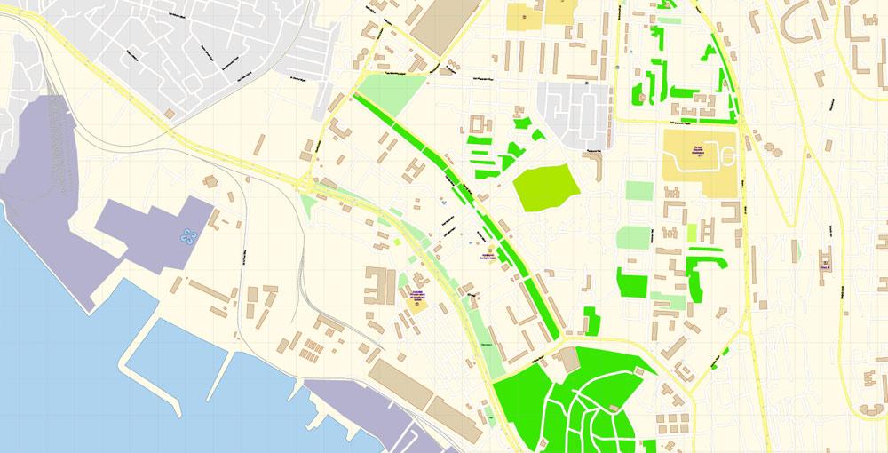 Street map Baku Azerbaijan PDF