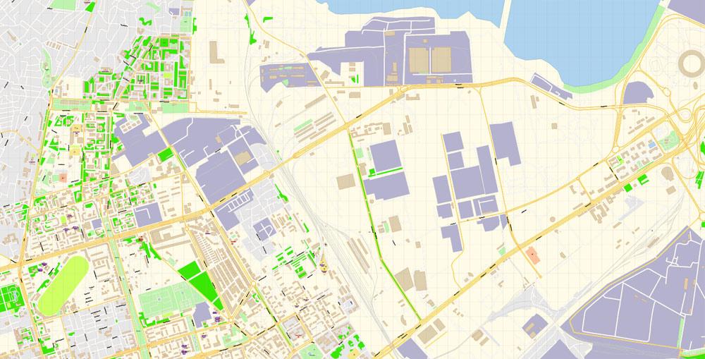 Pdf map Baku Azerbaijan