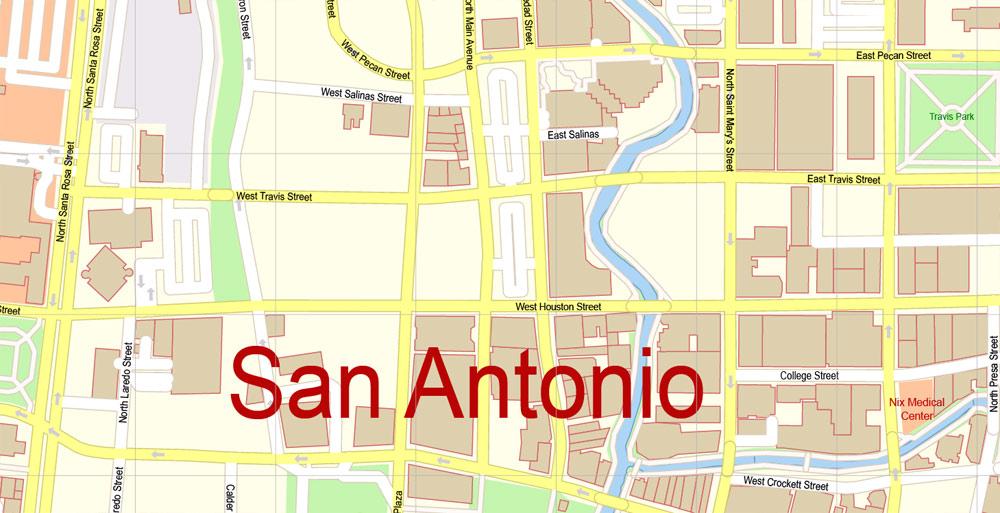 Street map San Antonio Texas 3 10 PDF