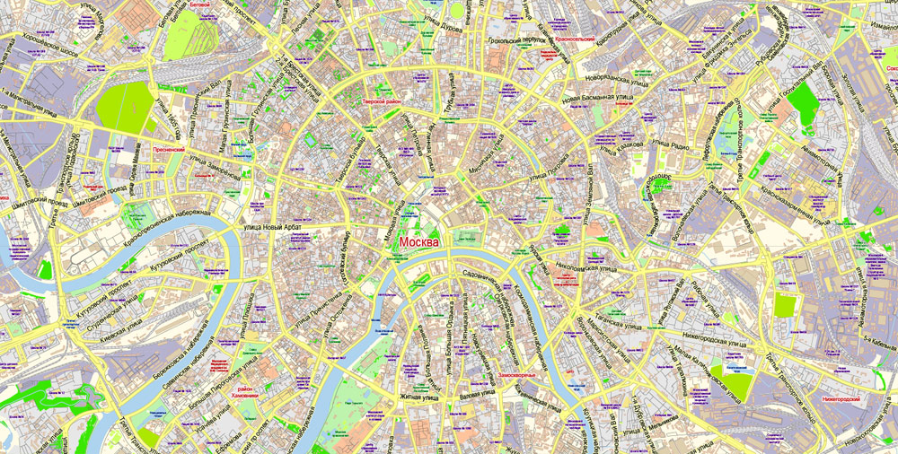 Street map Moscow