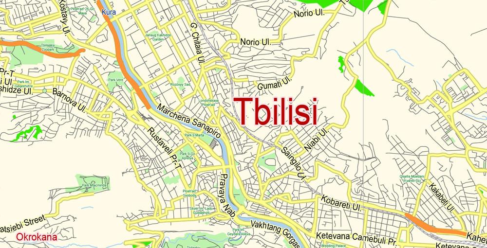 Street map Tbilisi PDF