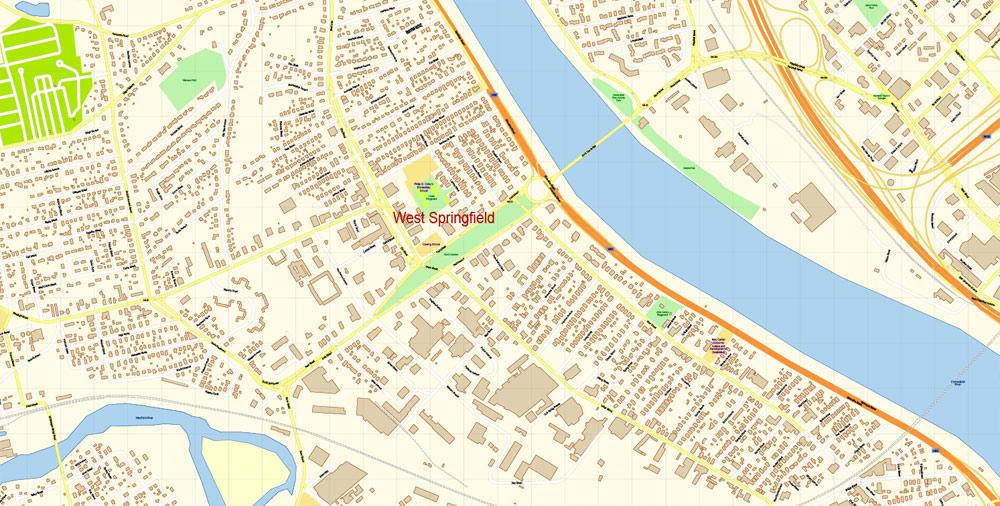 Urban plan Springfield DXF
