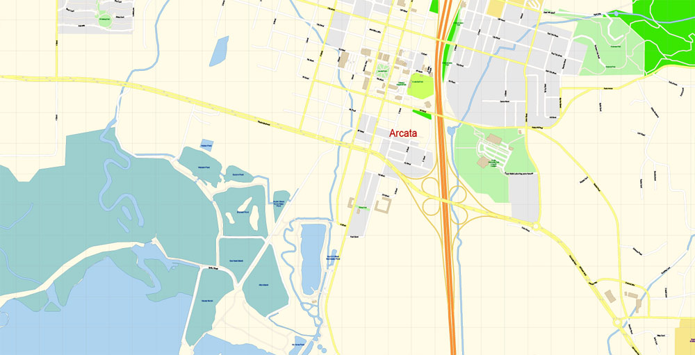 Street map Arcata Eureka California PDF