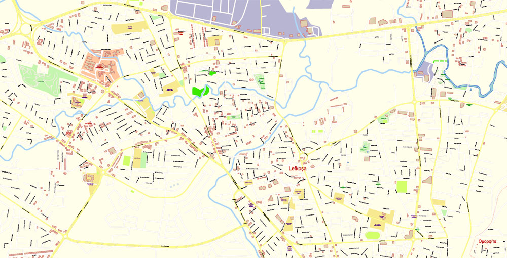 City map Cyprus Island PDF