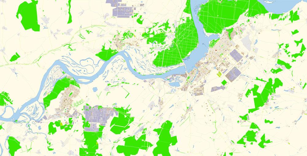 Street map Naberezhnye Chelny PDF Russia