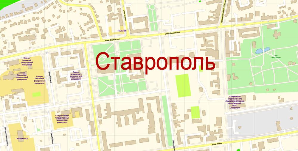 Pdf map Stavropol