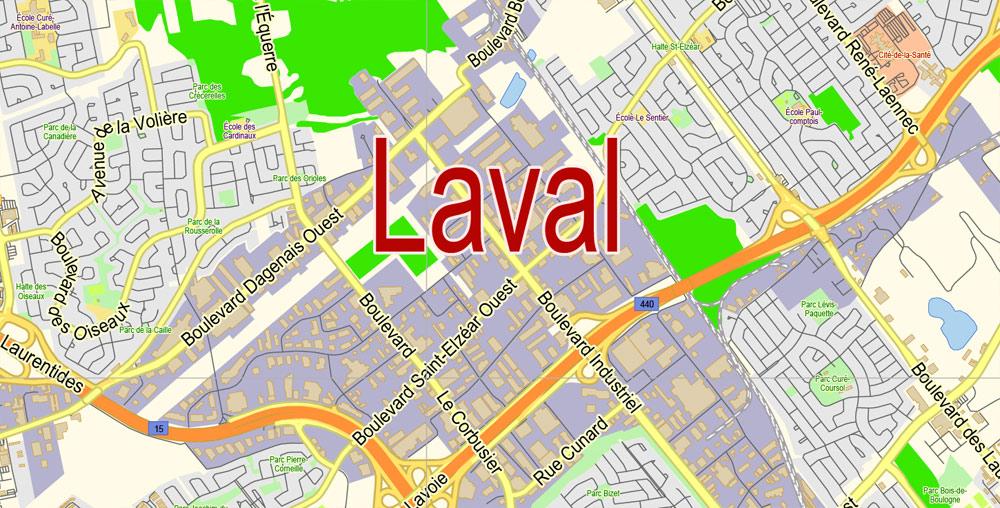Street map Laval Mayenne PDF