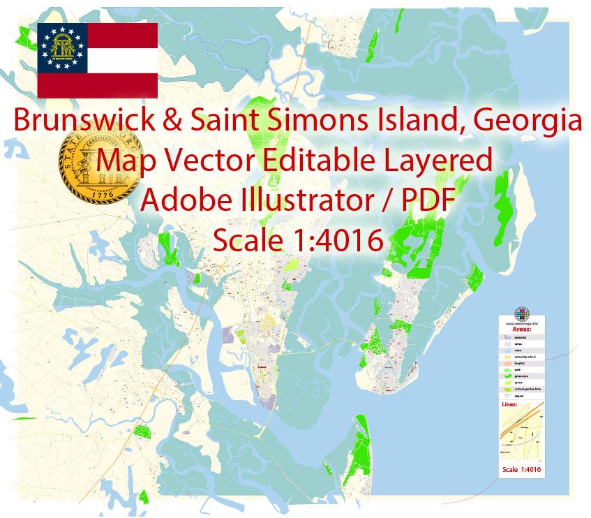 Street map Brunswick Georgia PDF