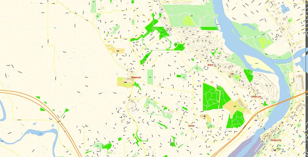 City map Hillsboro Oregon PDF