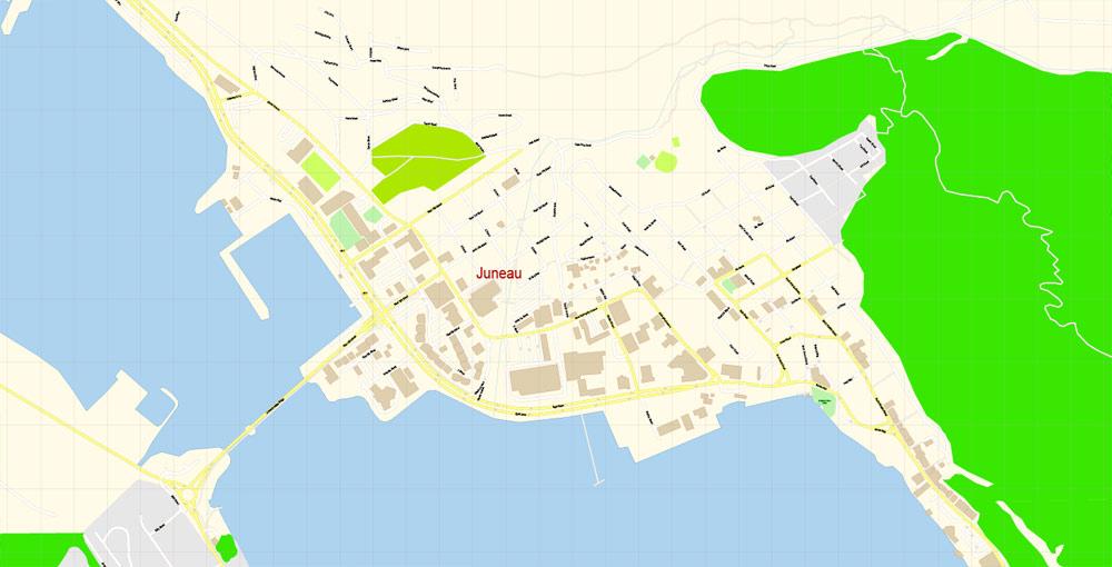 Street map Juneau Alaska PDF