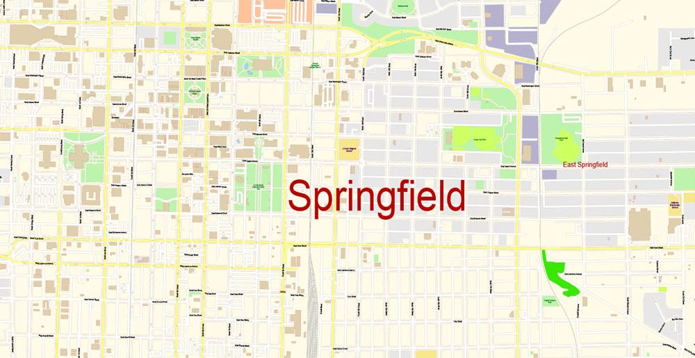 Street map Springfield Illinois PDF
