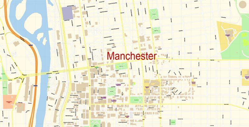 City map Manchester New Hampshire PDF