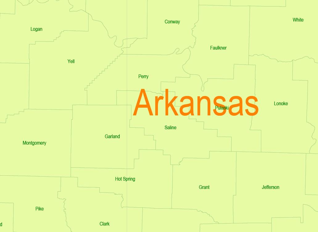 Street map Texas Louisiana Counties PDF