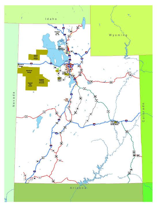 Free vector map State Utah US Adobe Illustrator and PDF download