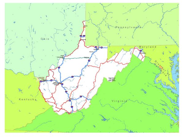 Free vector map State West Virginia US Adobe Illustrator and PDF download