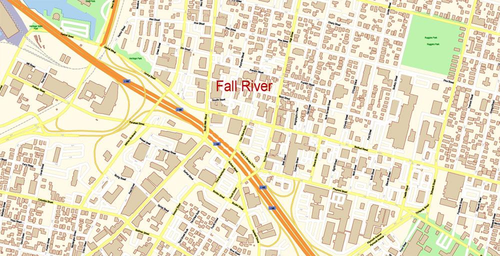 Street map Providence Rhode Island PDF AI