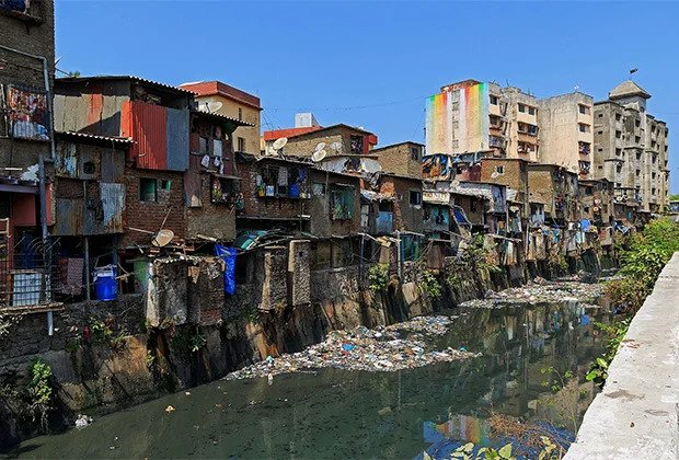 Dhavari - slums in Mumbai where from the end of XIX century live Dalits