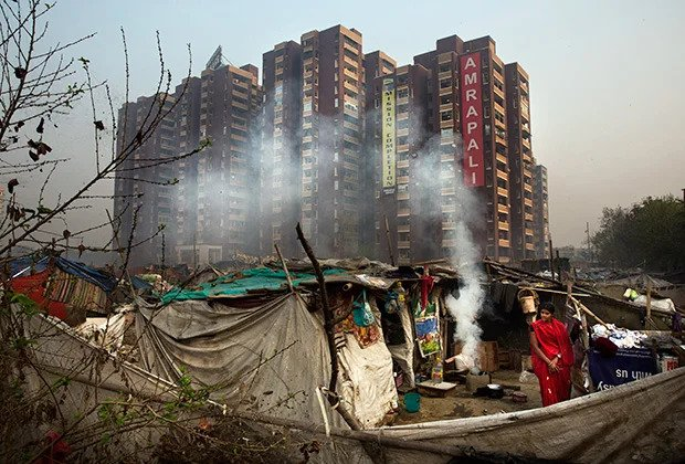 Many Dalits live in slums on suburbs of megacities