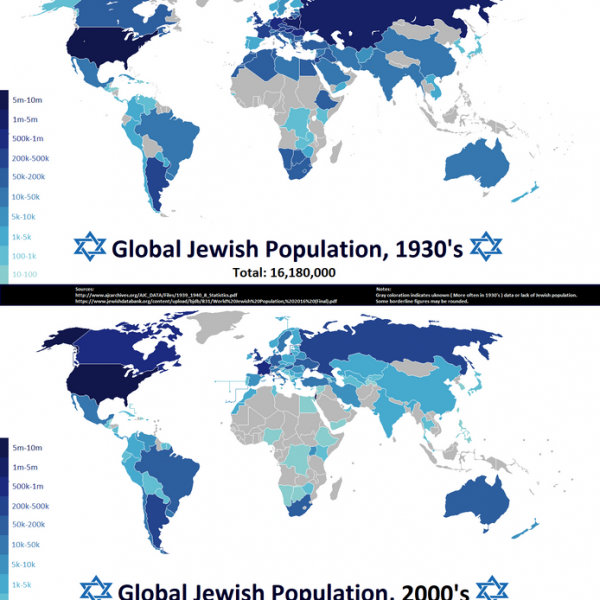 Jewish World Map: They really are around, but they are getting smaller ...