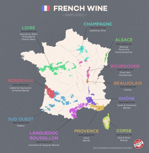 Map: Wines of France