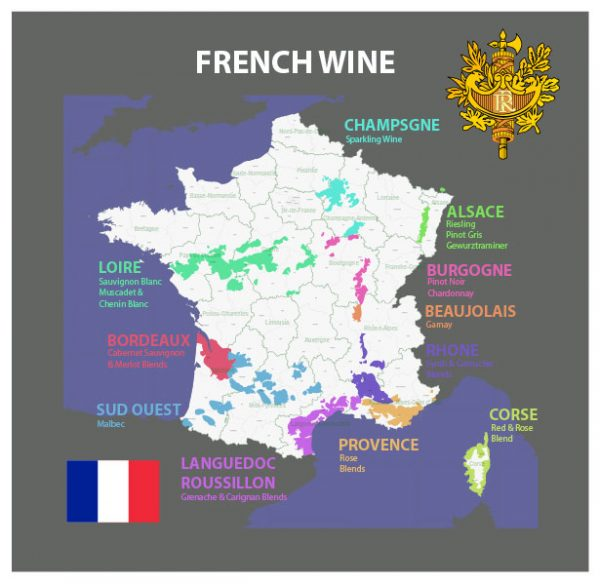 French Wine Country Admin Vector Map Editable Layered Adobe Illustrator France 01