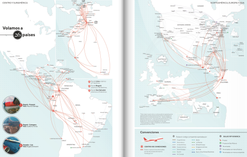 Avianca route map, 2020The Avianca route map in March 2020. The...