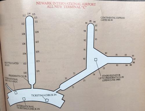 "Vector Maps: Continental Newark ""New Terminal C"" diagram, 1988A Continental..."