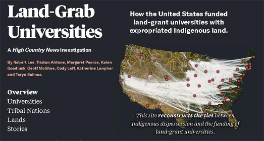 Vector Maps: Maps Mania: Land-Grab Universities