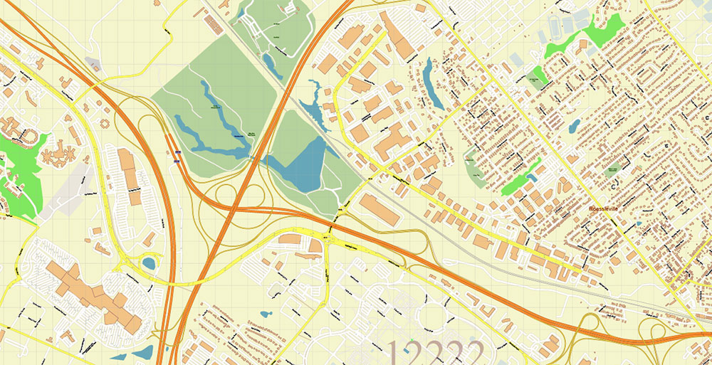 Albany County New York US Map Vector Exact State Plan High Detailed Road Map + admin + Zipcodes editable Adobe Illustrator in layers